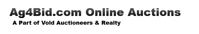 Ag4Bid.com Online Auctions - A Part of Vold Auctioneers & Realty